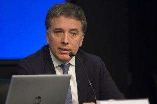 El déficit primario bajó 47% - Nicolás Dujovne, durante los anuncios.  -