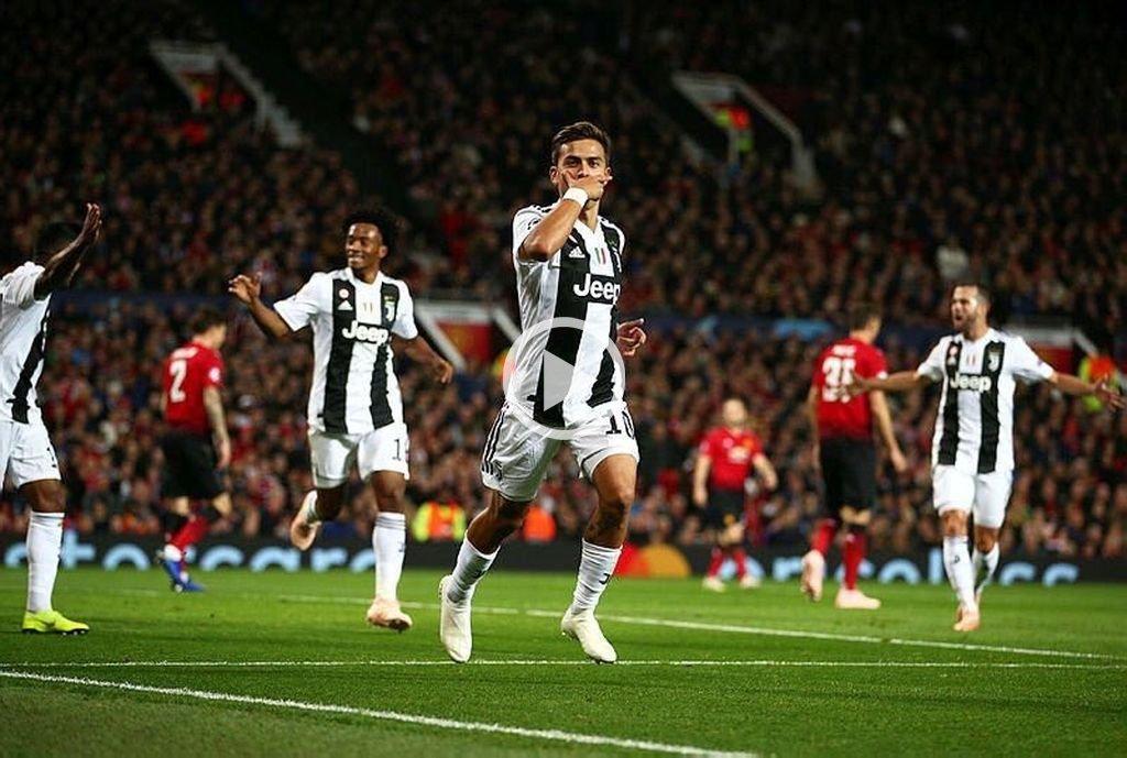 Con gol de Dybala, la Juventus derrotó 1 a 0 al Manchester United