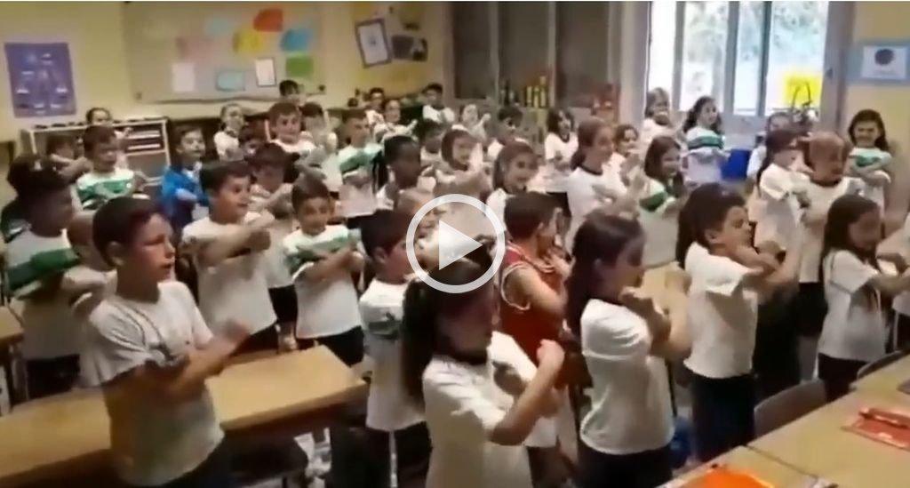 Alumnos de primaria aprendieron geometría cantando rap