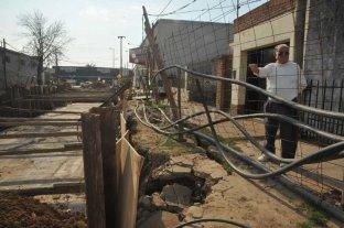"""Desagüe Espora: piden un plan para hacer """"vivible"""" el sector de la obra"""