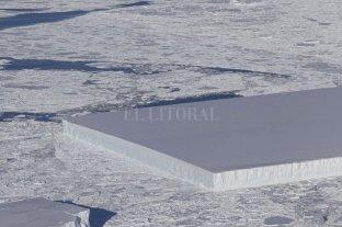 La Nasa descubrió en la Antártida un iceberg rectangular perfecto