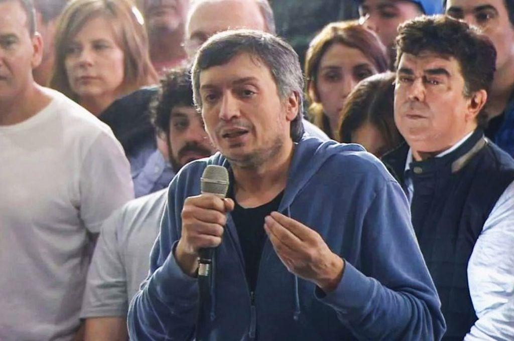 Máximo Kirchner cerró el acto de homenaje a su padre. <strong>Foto:</strong> Captura de pantalla.