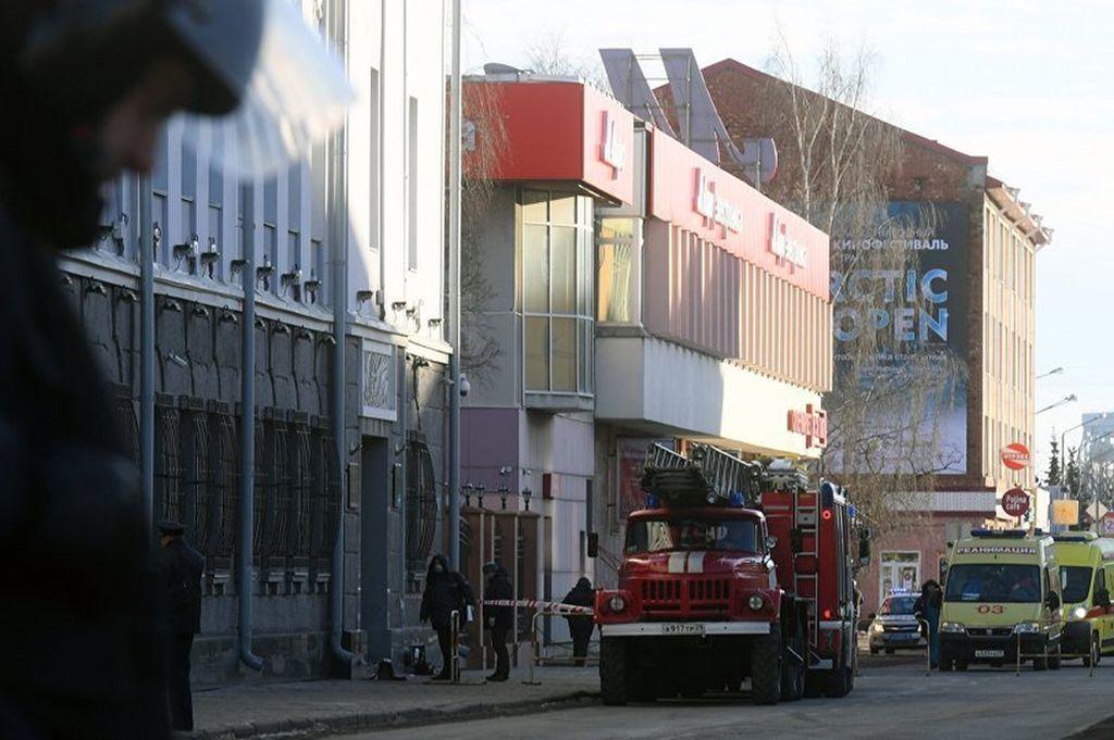 Después de entrar en el edificio sacó de un bolso un explosivo de fabricación casera que le estalló en las manos y le provocó la muerte. Tres empleados del FSB resultaron heridos. Crédito: Sputnik Mundo