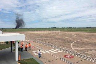 Realizaron un simulacro de accidente en el Aeropuerto Metropolitano