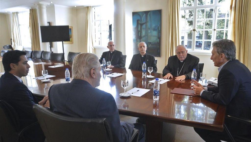 Macri durante la Conferencia Episcopal Argentina en 2016 Crédito: Presidencia de la Nación