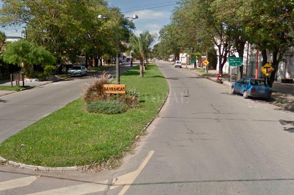 La tranquilidad de Barrancas se vio trastocada por un feroz ataque armado Crédito: Captura de Pantalla - Google Street View