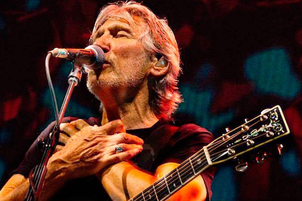 Roger Waters, ex vocalista de Pink Floyd en el show del lunes en La Plata. <strong>Foto:</strong> Internet