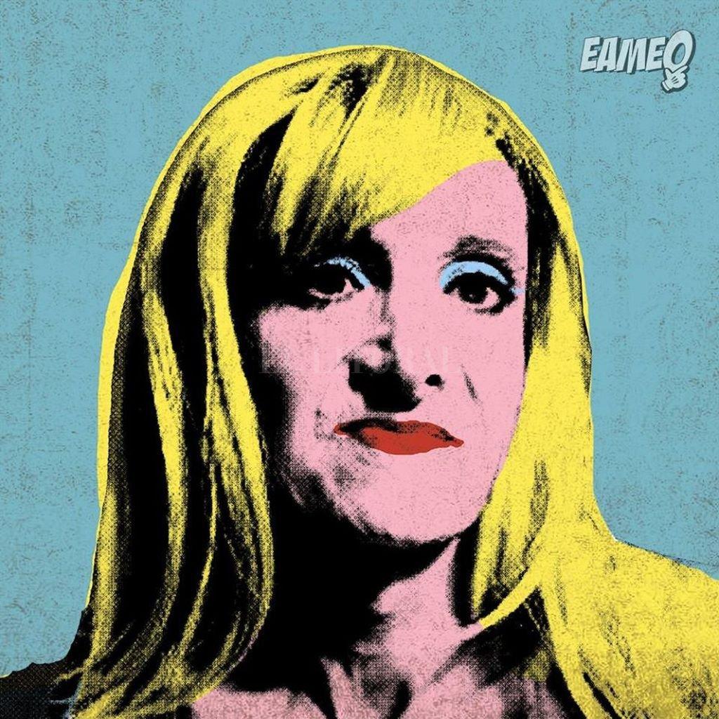 Zulma Lobato en versión pop art a lo Andy Warhol, el ícono de Eameo. Gentileza Eameo