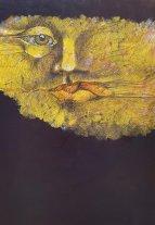 """José Adán Bastías: pinturas - Obra de la serie """"Sostenido en el vacío"""". -"""