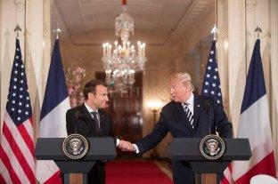 Macron recibió a Trump en París tras duras críticas