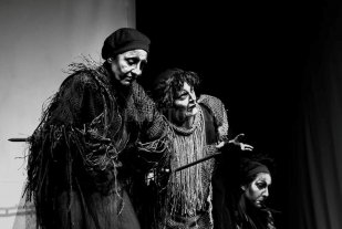 Una obra de teatro santafesina participó en festival de Colombia - La puesta santafesina durante una de las presentaciones realizadas en Armenia, una ciudad ubicada en el oeste de Colombia.  -