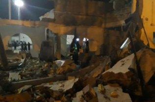 Una fuerte explosión destruyó parte del Centro Cívico Municipal de Salta