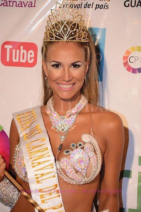 Aylín Marín, reina 2015/2016, explicó la postura pública adoptada por las pasistas. Facebook Oficial Carnaval de Gualeguaychú