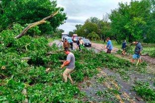 Video: tremenda tormenta en las afueras de Paraná