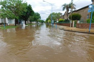 Calles anegadas y otras complicaciones San Jerónimo Norte por el temporal