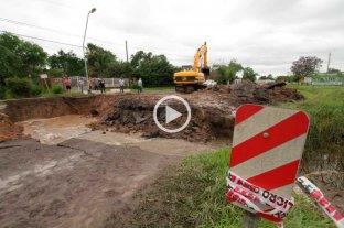 Video: se hundió el pavimento en la RN 11, a la altura de Sauce Viejo -