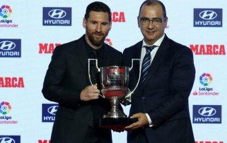 Messi recibió los trofeos al mejor jugador y goleador de España