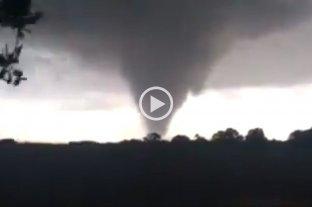 Registraron un tornado en el norte provincial