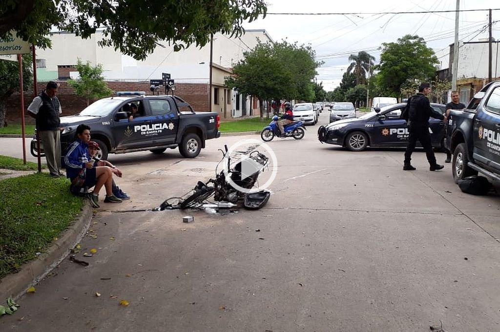 Dos delincuentes chocaron en su huida tras un robo -  -