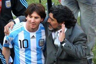 """Maradona: """"Si Messi no vuelve estamos al horno"""" -  -"""