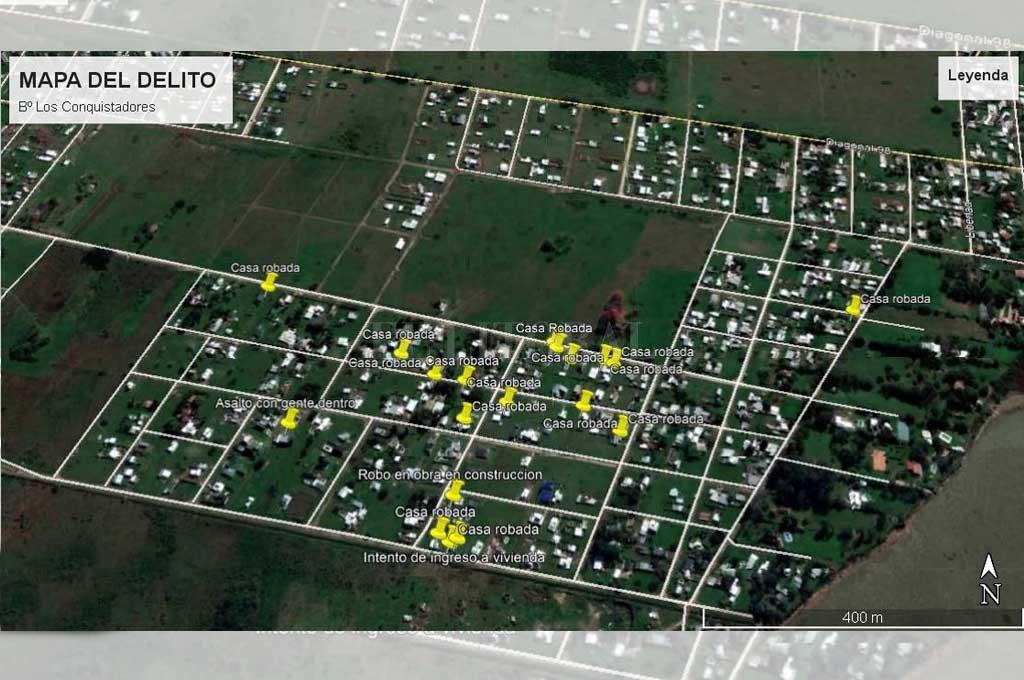 Sólo en lo que va de la presente semana, 5 viviendas fueron atacadas por la delincuencia.  <strong>Foto:</strong> Gentileza