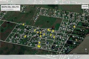 Hartos de los robos, vecinos de Sauce Viejo hicieron un mapa del delito - Sólo en lo que va de la presente semana, 5 viviendas fueron atacadas por la delincuencia.