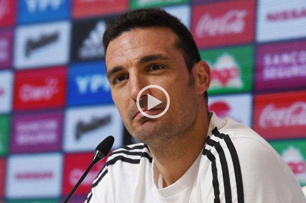 """Scaloni: """"Estimo que Messi va a volver a la Selección"""""""