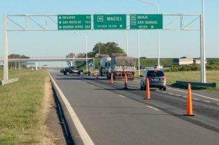 Agregan un corte parcial en la autopista Santa Fe - Rosario -  -