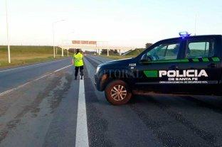 Son dos los cortes en la autopista Santa Fe - Rosario -  -