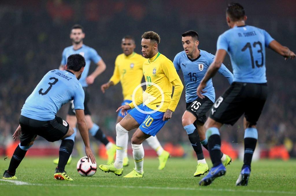 Con gol de Neymar, Brasil le ganó a Uruguay