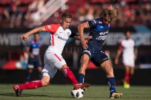 De Iriondo tiene chances de ser titular contra Vélez  - Manuel De Iriondo, un volante aguerrido al que Madelón podría utilizar para contrarrestar la dinámica y buen juego del Vélez de Heinze. -