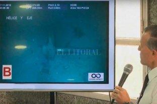 Confirmaron el hallazgo del ARA San Juan a 907 metros de profundidad - En la conferencia de prensa divulgaron imágenes del fondo del mar -
