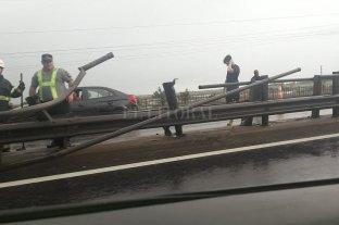 Dos lesionados en un accidente en la Ruta 168