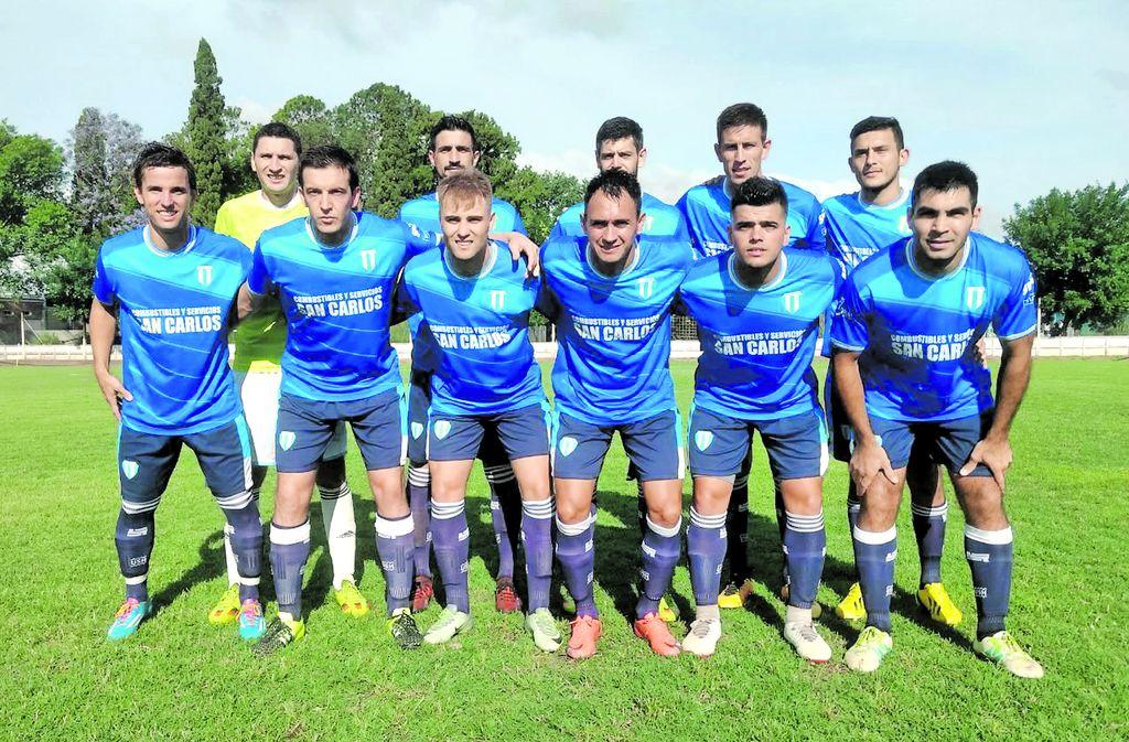 Ganó y festejó. Argentino de San Carlos venció a Gimnasia y llega mejor posicionado a la final del campeonato. Crédito: Gentileza Fútbol de Ligas