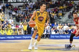 Delfino regresó a la actividad en el básquet de Italia