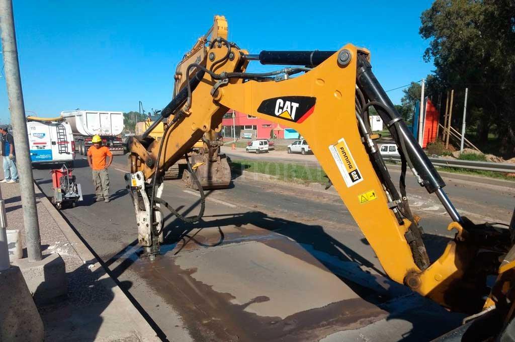 Reparan el acueducto Colastiné y hay desvíos de tránsito en la Ruta 1