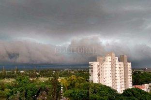 Así avanza la tormenta por Santa Fe