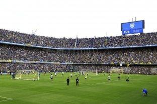 Una multitud de hinchas de Boca llenó La Bombonera en la previa de la súper final