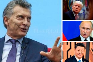 Macri se reunirá con Trump, Xi Jinping y Putin