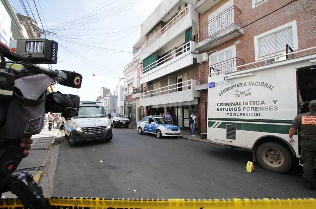 El departamento en el centro de la ciudad de Santa Fe, donde los prófugos permanecieron hasta escapar en dirección a Cayastá Crédito: Manuel Fabatía