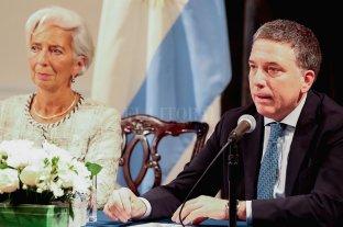 El FMI dio detalles de cómo se utilizará el próximo desembolso que hará a la Argentina - Cristine Lagarde y Nicolás Dujovne. -