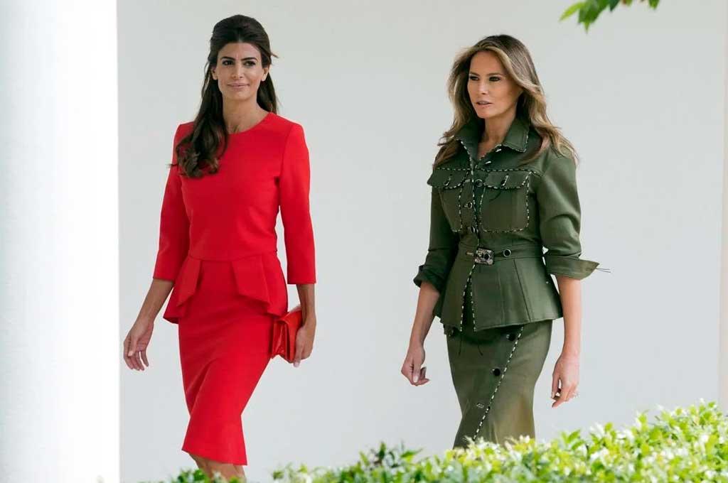 Juliana Awada junto a Melania Trump, durante su visita a la Casa Blanca. <strong>Foto:</strong> Archivo.