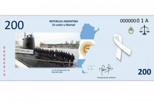 Alumnas de una colegio santafesino diseñaron un billete en honor a los tripulantes del ARA San Juan