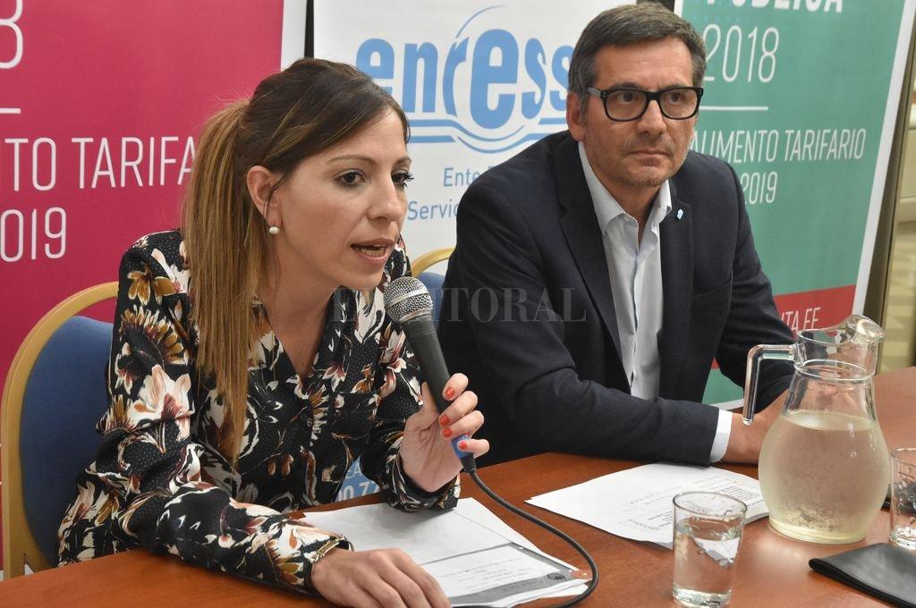 Los directores del Enress, Anahí Rodríguez y Horacio Bertoglio, presidieron el encuentro. <strong>Foto:</strong> Luis Cetraro