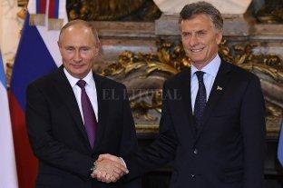 Macri recibió a Putin en Casa Rosada