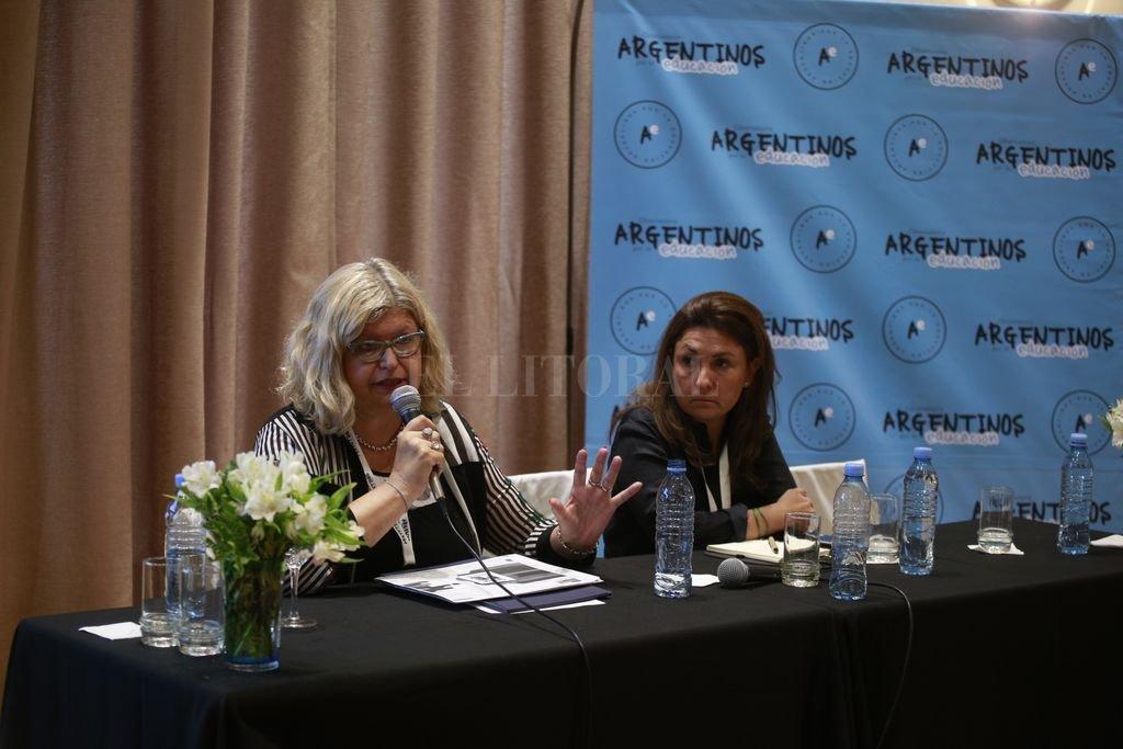 """""""Cuando uno se plantea la construcción de políticas públicas es necesario tener en claro los objetivos para que los datos y la información cobren valor"""", resumió la ministra. <strong>Foto:</strong> Gentileza Argentinos por la Educación"""