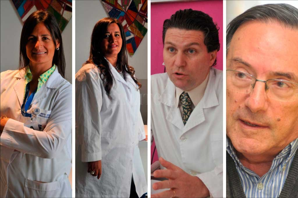 De izquierda a derecha. Dra. Marina Paulazzo, Dra. Samira Cornaglia, Dr. Gabriel Gattolín, Dr. Héctor Mario Musacchio <strong>Foto:</strong> El Litoral