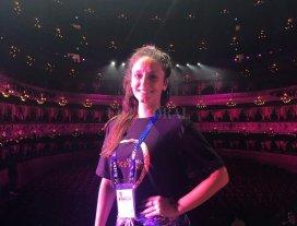 La santafesina que actuó en la gala del G20  - María Emilia compartió a través de las redes fotos en el Teatro Colón, donde vivió uno de los momentos más importantes de su carrera. -