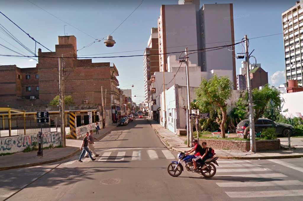 Esta vez robaron en pleno centro de la ciudad <strong>Foto:</strong> Captura de Pantalla - Google Street View
