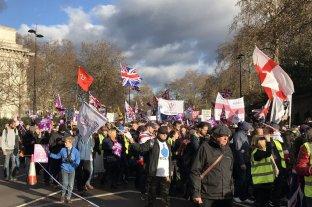 Marchas a favor y en contra del Brexit a dos días de una votación clave